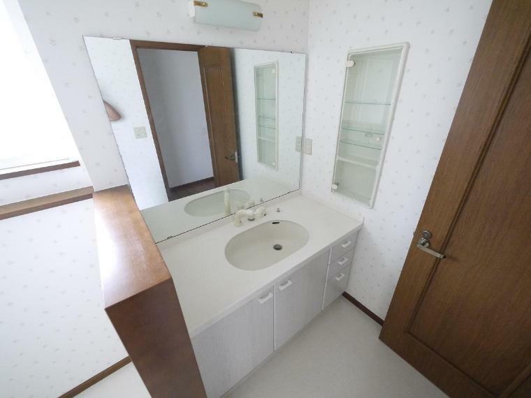 洗面化粧台 たっぷりの収納を設けたシャワー付洗面台で快適な暮らし