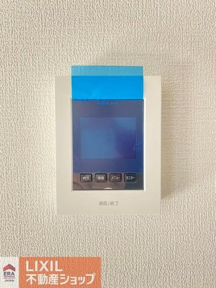 TVモニター付きインターフォン カラーTVインターホン。録画機能付きで留守の際も安心ですね
