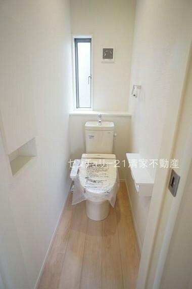 トイレ 3号棟:温水洗浄付きトイレを標準設置!(2021年09月撮影)