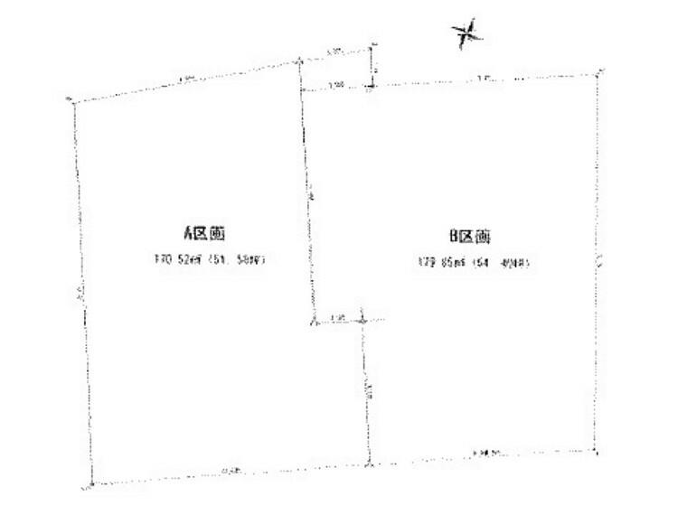 区画図 中郡大磯町の建築条件付きの土地、A区画です