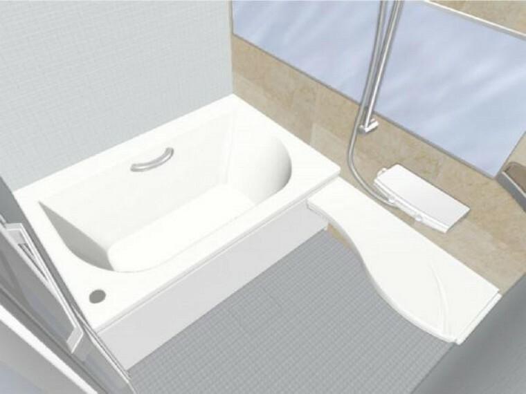 専用部・室内写真 【同仕様写真】浴室は新品のユニットバスに交換します。床は水はけがよく汚れが付きにくい加工がされているのでお掃除ラクラクです。