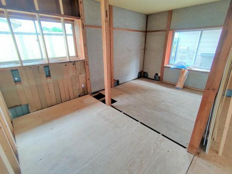 【リフォーム前】約6帖洋室です。現在和室ですが、フローリング張りを行い洋室に変更します。