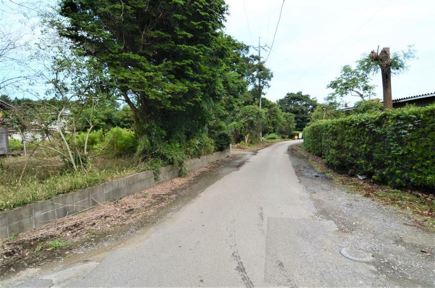 外観写真 接道道路と周囲の街並み 南側道路