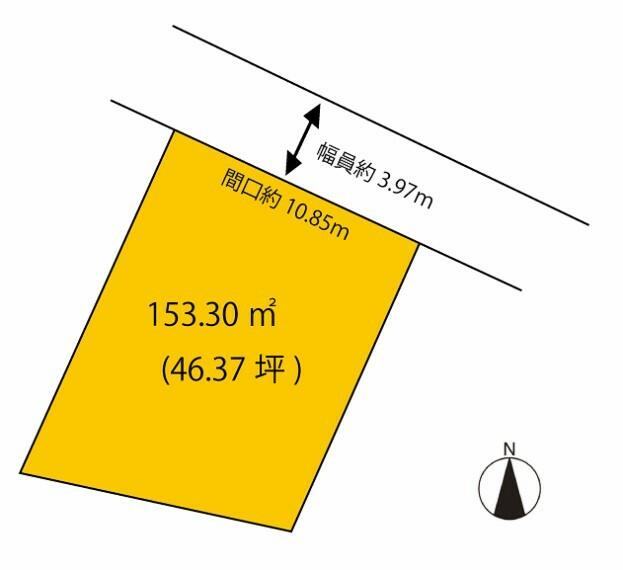 区画図 153.30平米(46.37坪)
