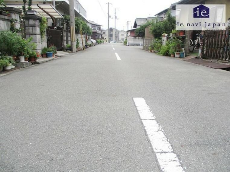 現況写真 現地前面道路写真