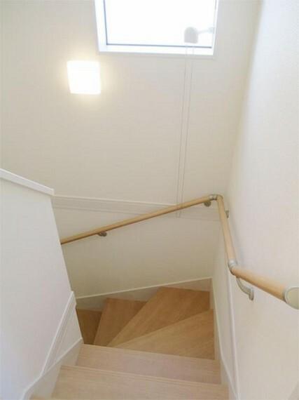 同仕様写真(内観) 施工例:階段 階段手摺付優しい配慮