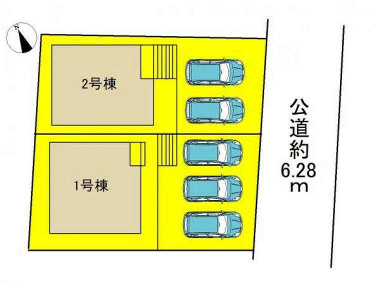 区画図 ●前面道路広々6m以上●