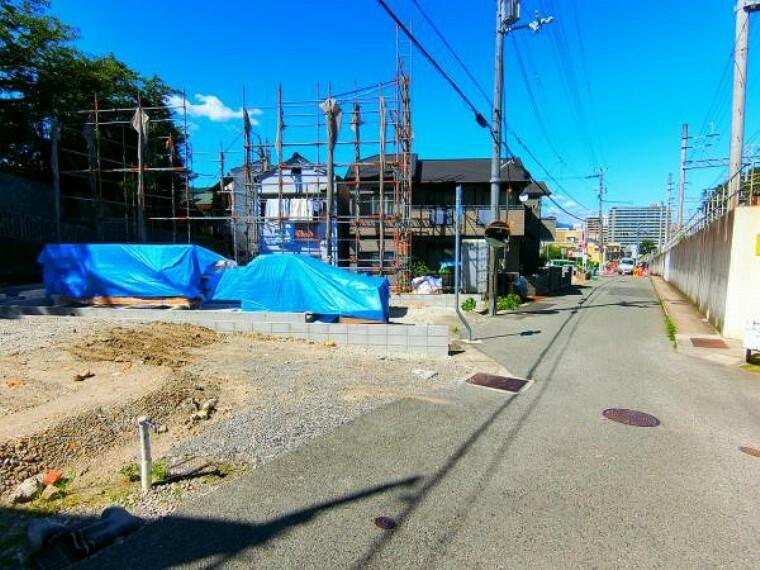 現況写真 前面道路は神戸市道幅員6mです。