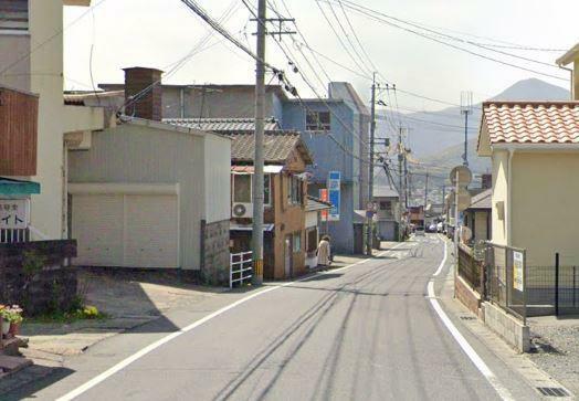 前面道路写真。