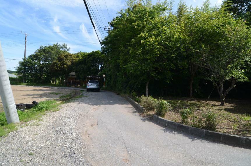 外観写真 接道道路と周囲の街並み 東側道路