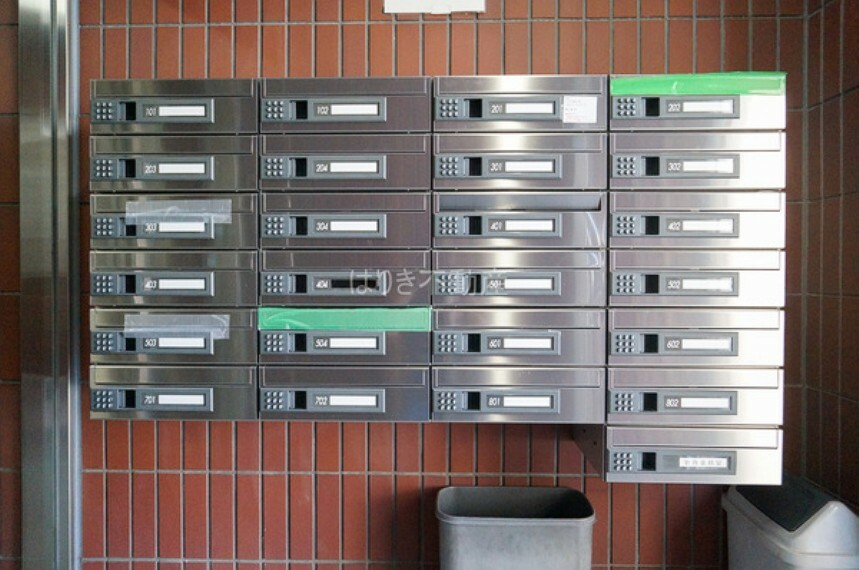 エントランスホール 便利なメールボックス完備