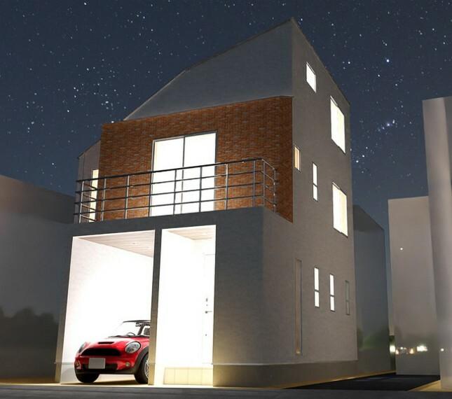 参考プラン完成予想図 建物プラン例 建物面積 80.98m2(車庫面積8.1m2)