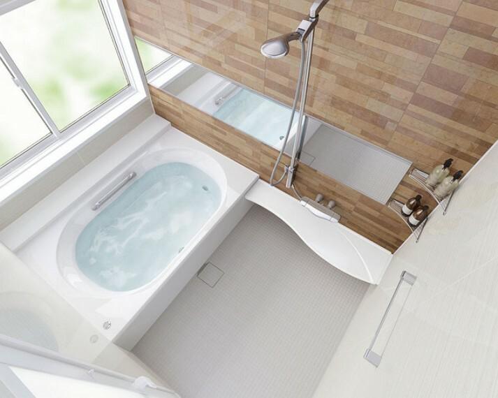 外観・現況 【参考プラン適用設備 バスルーム】 衣類の乾燥や入浴前の暖房に大活躍する浴室暖房乾燥機が標準設備のバスルーム。 真上から包み込むシャワーやお掃除をカンタンにする工夫がいっぱいあります。