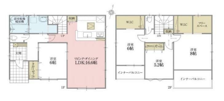 間取り図 【3号棟間取り図】4LDK 建物面積108.88平米(32.99坪)