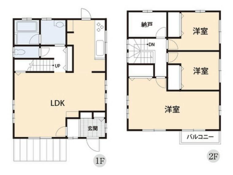 間取り図 収納力が自慢の家。室内空間はシンプルに飾れそうですね。