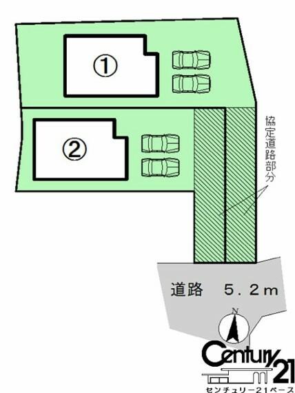 区画図 ■こちらの物件は2号棟です!■