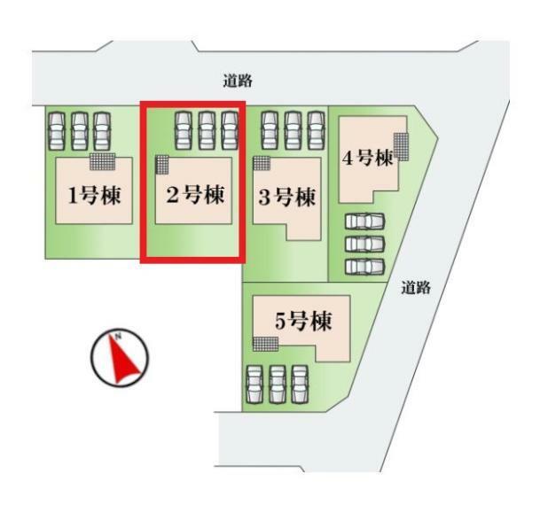 区画図 【2号棟区画図】土地面積181.00平米(54.75坪)