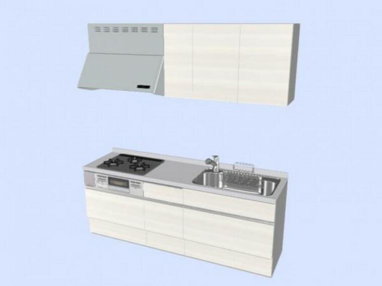 キッチン 【同仕様写真】キッチンはLIXIL製の新品に交換します。天板は人造大理石製なので、熱に強く傷つきにくいため毎日のお手入れが簡単です。シンクはサビにくく熱に強いステンレス製です。水はねの音を抑える静音設計で、従来よりもさらに水音が静かになっています。