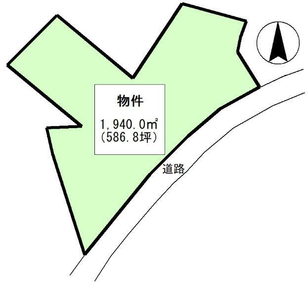 土地図面 公簿:1940平米(586.85坪)