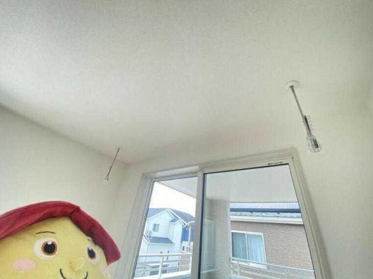 室内物干つき!部屋干しでもカラッと乾きます!梅雨の時期大活躍しそう!