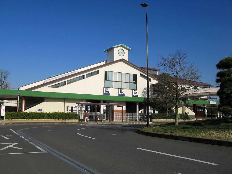 高坂駅 1210m、自転車ならスーイスイ、あっという間に我が家です。