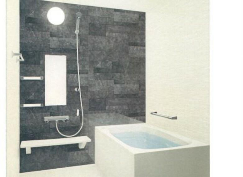 [同仕様写真_ユニットバス]ハウステック製のユニットバスに新品交換致します。浴室内に腕を置けるアームレスト付きのユニットバス。新品なので清潔感もあり毎日の入浴が楽しみですね。