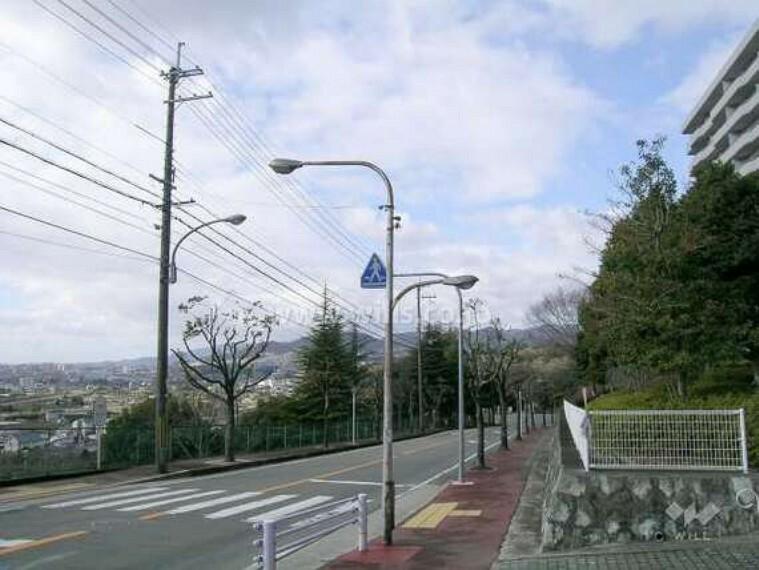 現況写真 東側には五月山が見えます
