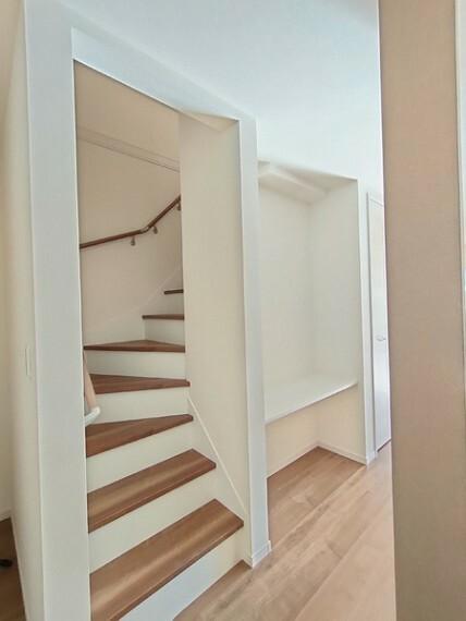 居間・リビング リビングイン階段