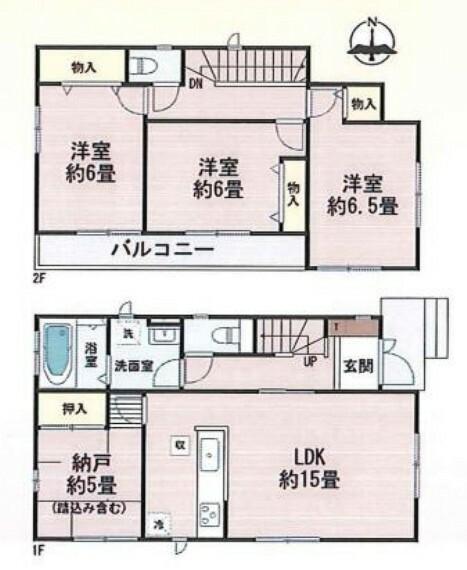 間取り図 3SLDK2階建てのお家