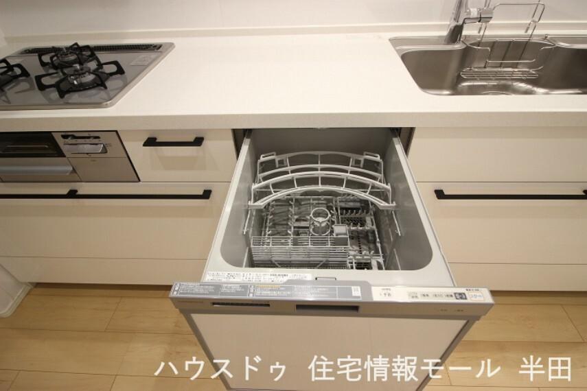 毎日のお弁当箱洗いにも活躍する食器洗浄乾燥機付