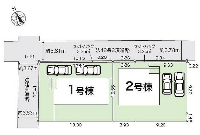 区画図 全体区画図:1号棟