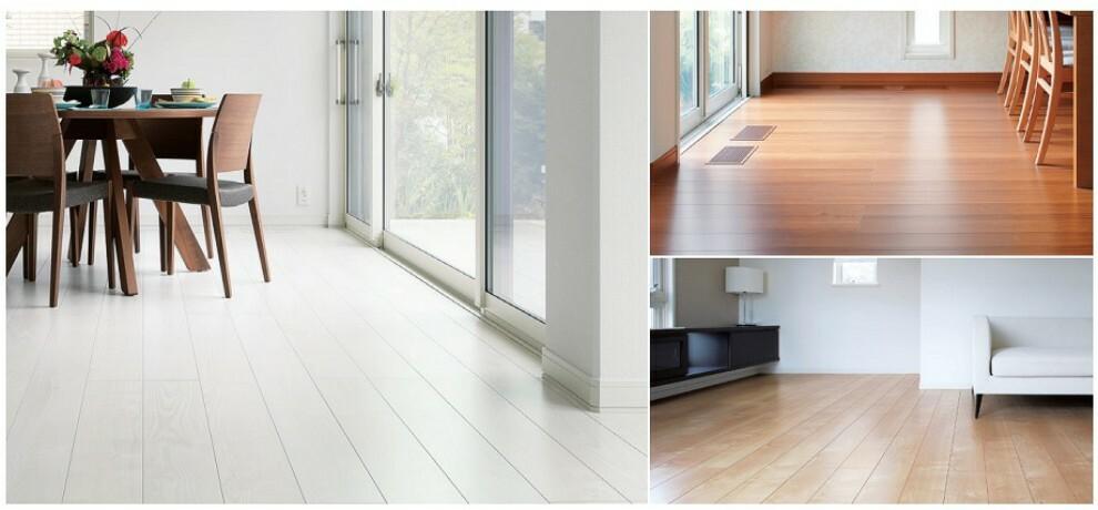 居間・リビング 【AB両棟】優れた表面性能と意匠性を併せ持つ、長期間ワックスがけが不要です