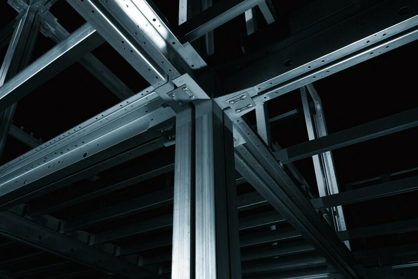 【ボックスラーメン構造】ユニットを連結し強靭な構造に。