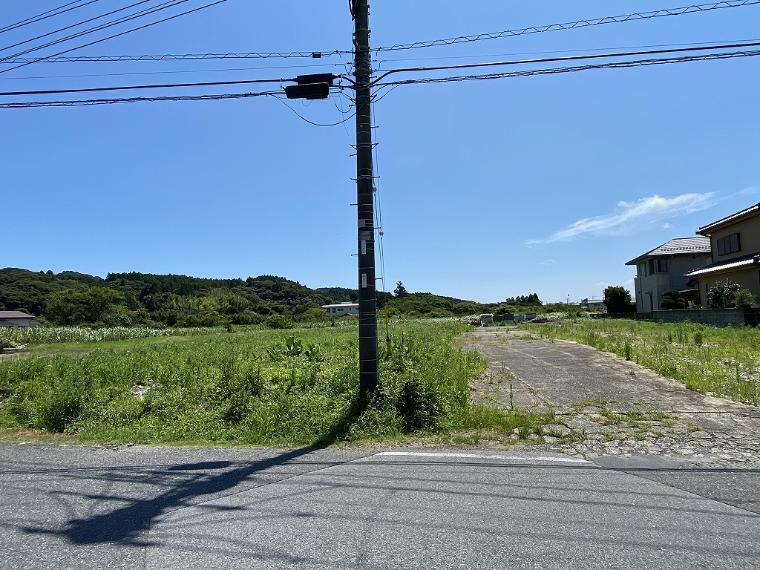 現況写真 接道道路から北側外観