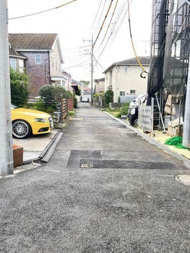 現況写真 駐車もしやすい前面道路です。