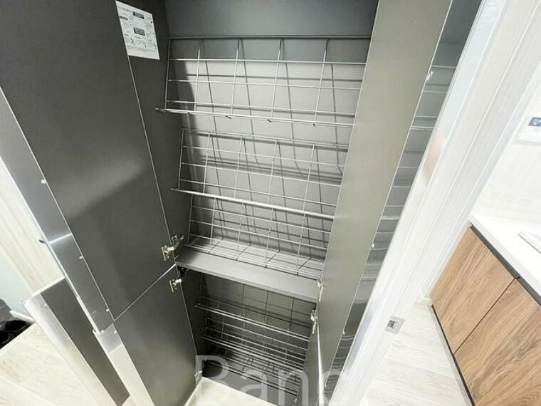収納 便利な収納スペース。