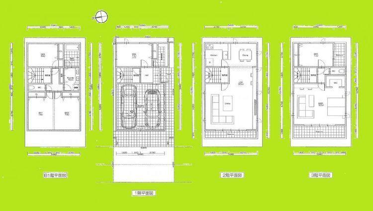 現況写真 参考プランの居室に関して、建築基準法上では一部「納戸」扱いとなる可能性がございます。