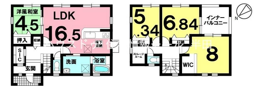 間取り図 【全居室南向きの明るい住まい】 詳細はお問合せください