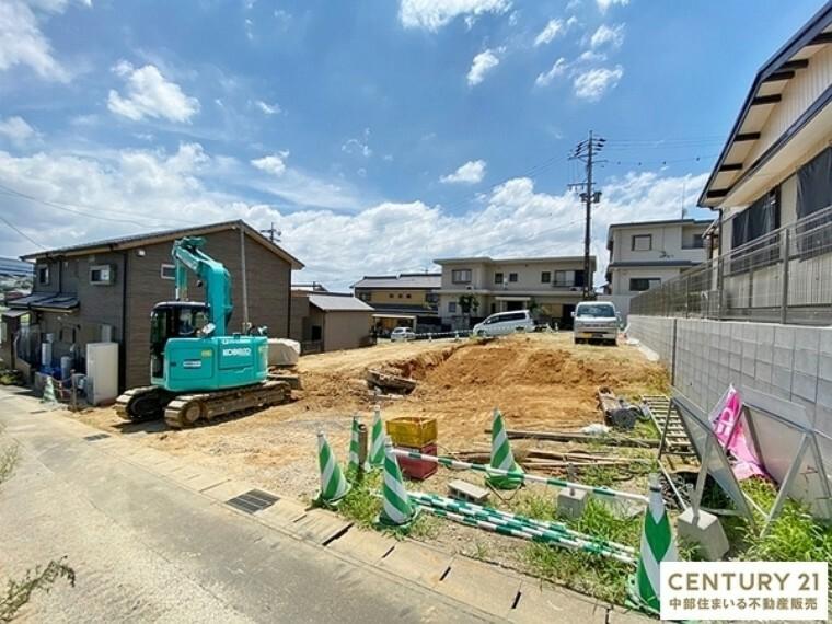 現況外観写真 豊田市【駒場町】全2棟の新築分譲住宅。ご予約の上、現地案内会実施中!お気軽にお問い合わせください。
