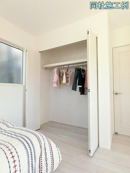 収納 各居室収納付きです。お部屋はいつもスッキリ片付きます。