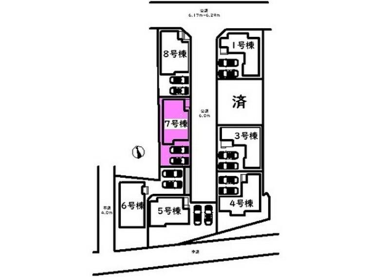 現況写真 敷地面積:134.37平米 駐車は並列2台駐車可能