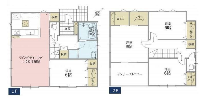 間取り図 【1号棟間取り図】4LDK 建物面積108.91平米(33.00坪)