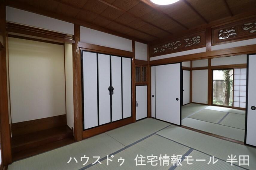 和室 1階の和室は、襖を開けることで3間続きになる間取りになっています。