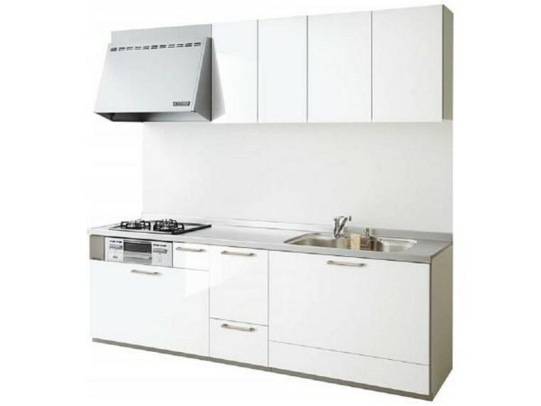 キッチン 【同仕様写真】新品EIDAI製システムキッチンを設置予定です。天板は人工大理石で傷付きにくく使いやすいく、収納もタップリ出来て引出式ですので開け閉めもスムーズです。