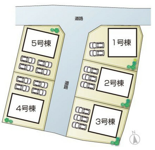区画図 姫路市飾東町庄第8I期 全5邸  区画図