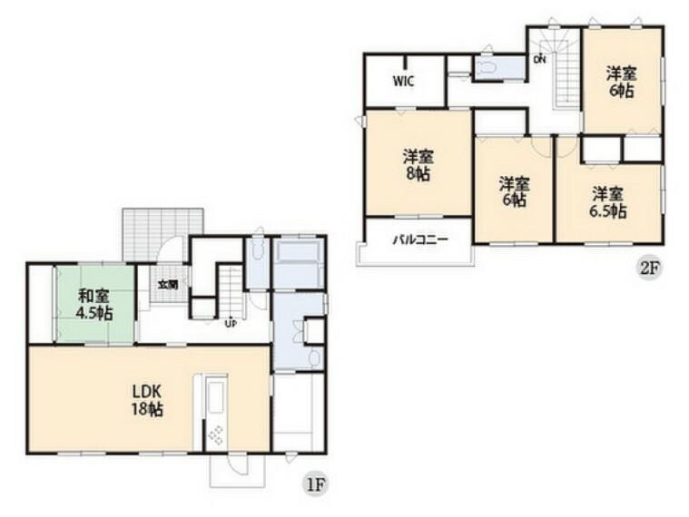 間取り図 全居室に収納がついています。生活空間を広く利用できますね。
