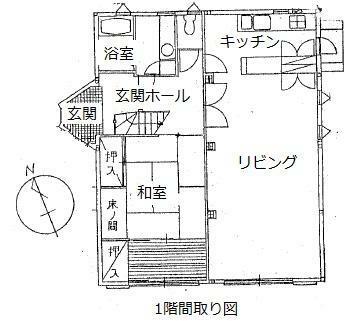 区画図 1階間取図