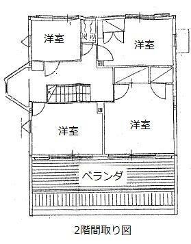 区画図 2階間取図