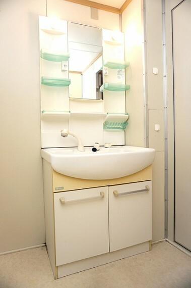 洗面化粧台 掃除にも便利なシャンプードレッサー