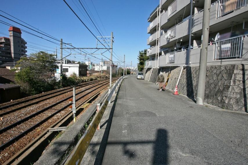 現況写真 敷地南側は名鉄名古屋本線に面しています。
